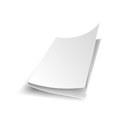 white office paper blank sheet with shade vector image