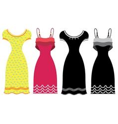 Woman Summer Dress vector image
