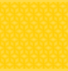 yellow cubes pattern seamless background vector image