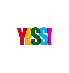 Yes template design vector