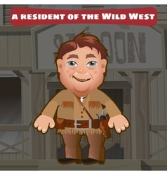 Fictional character a resident of the Wild West vector image