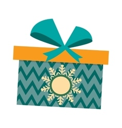 Gft box with ribbon vector image