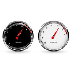 manometers round gauges with chrome frame vector image vector image