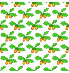 Oak acorn pattern vector
