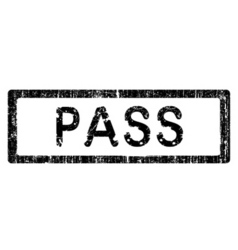 office stamp pass vector image