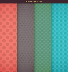 Wallpaper texture and patterns set vector image vector image
