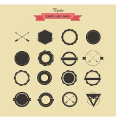 Collection of badgets and Labels vector image