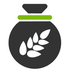 grain harvest sack flat icon vector image vector image