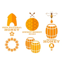 Honey Isolated labels and icons vector image vector image