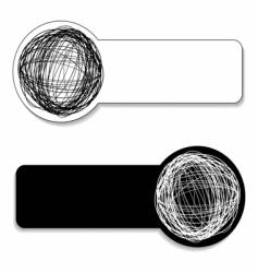 scribble tag vector image