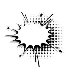 Blank template comic speech star bubble line vector image vector image