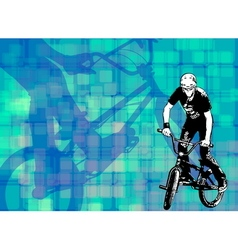 Bmx on the abstract background vector