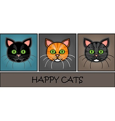 Cartoon cat header vector image vector image
