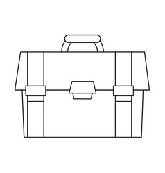 business briefcase isolated vector image vector image