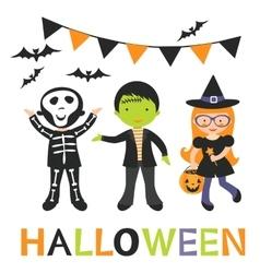 cute Halloween kids vector image vector image