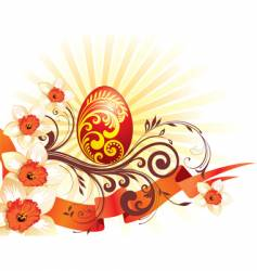 Easter graphic vector image