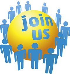 People join social company group vector image vector image