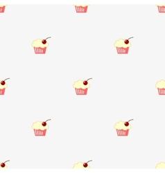 Seamless pattern sketch cupcake vector image