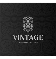 vintage decor label ornament background emblem vector image