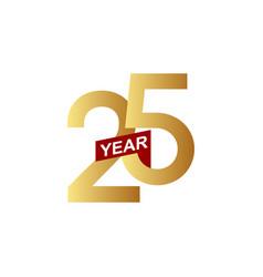 25 years anniversary template design vector