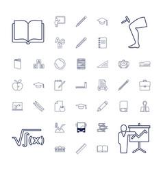 37 school icons vector