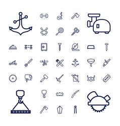 37 steel icons vector