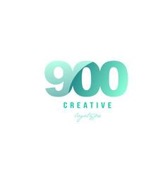 900 green pastel gradient number numeral digit vector