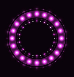 Abstract violet round circle vector