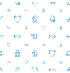 Animal icons pattern seamless white background vector