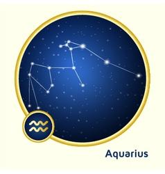 Aquarius constellation vector