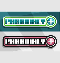 Banners for pharmacy vector