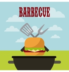 Barbecue grill design vector