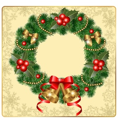 beautiful wreath vector image