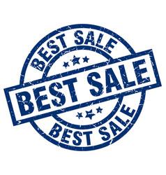 best sale blue round grunge stamp vector image
