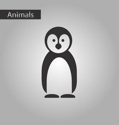 Black and white style icon penguin vector