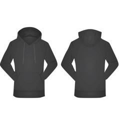 black hoodie vector image