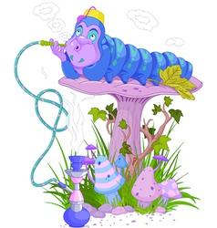 Blue caterpillar vector