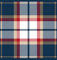 Blue red and beige tartan plaid seamless pattern vector