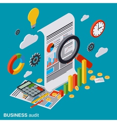 Business audit financial analytics statistics vector