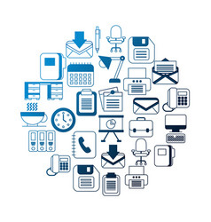 business office supplies equipment applications vector image