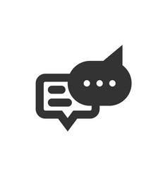 Chat speech bubble and dialog balloon filled style vector