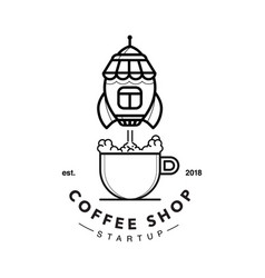 coffee shop rocket launch vector image