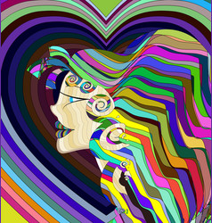 colored abstract girl vector image