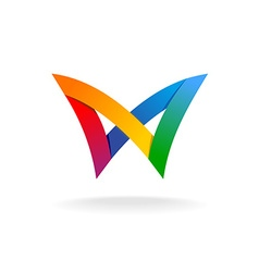 Colorful rainbow logo vector image