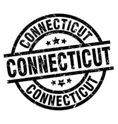 Connecticut black round grunge stamp vector