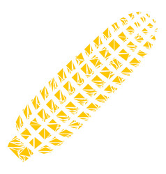 Corn mosaic of triangles vector