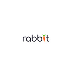 Creative and modern rabbit with carrot symbol vector