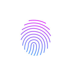 cryptographic signature glyph icon security and vector image