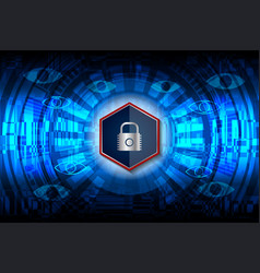 Cyber closed padlock vector