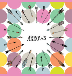 decorative hand drawn arrows vector image